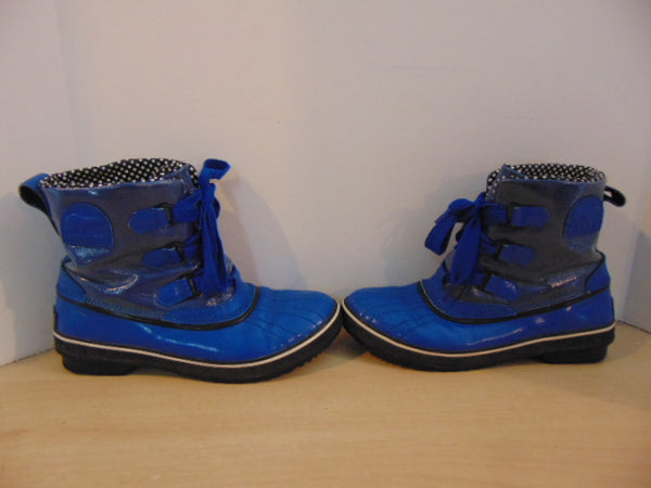 Winter Boots Ladies Size 9 Sorel Waterproof Blue