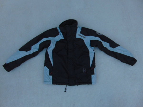Winter Coat Child Size 10 Spyder Black Grey Minor Wear