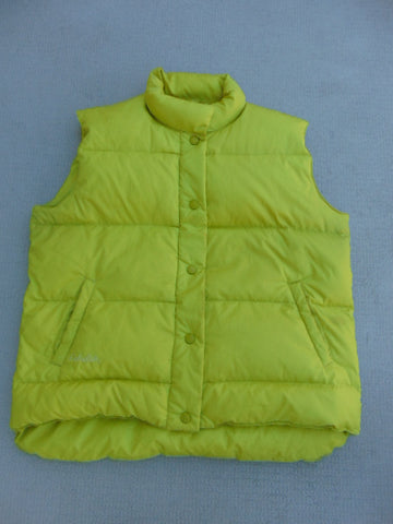 Light Jacket Ladies Size Large Cabela's Goose Down Filled Vest Lime Excellent