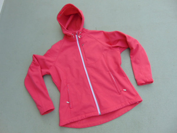 Winter Coat Ladies Size X Large Fushia Pink With Pink Micro Fleece Lining Inside Mint Condition