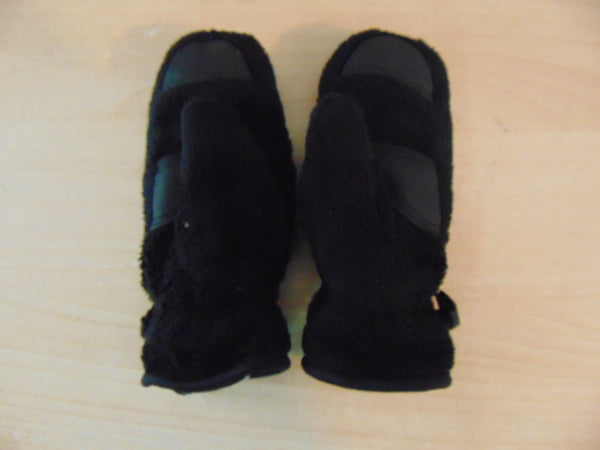 Winter Gloves and Mitts Child  Size 1-2 Head Plush Black