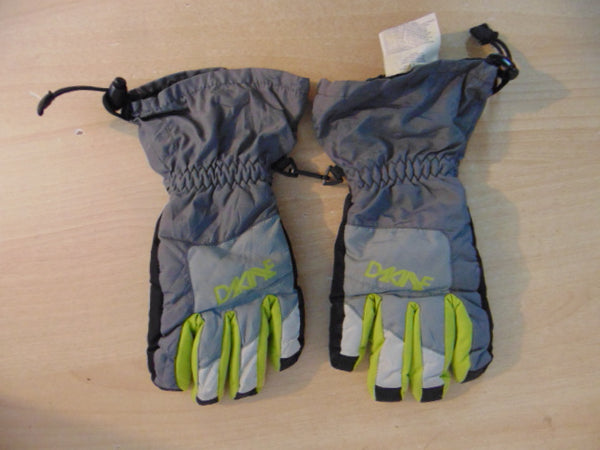 Winter Gloves and Mitts Child Size 10-12 Dakine Grey Lime Excellent
