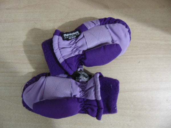 Winter Gloves and Mitts Child Size 2-3X Purple Pink