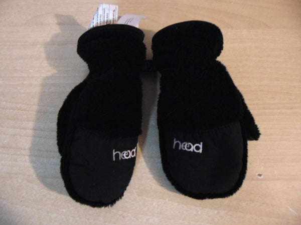 Winter Gloves and Mitts Child Size 2-4 Head Plush Black