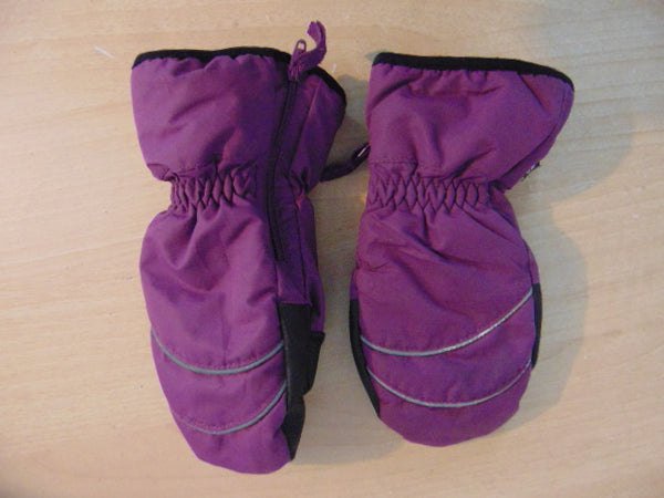 Winter Gloves and Mitts Child Size 7-8 H & M  Purple Black