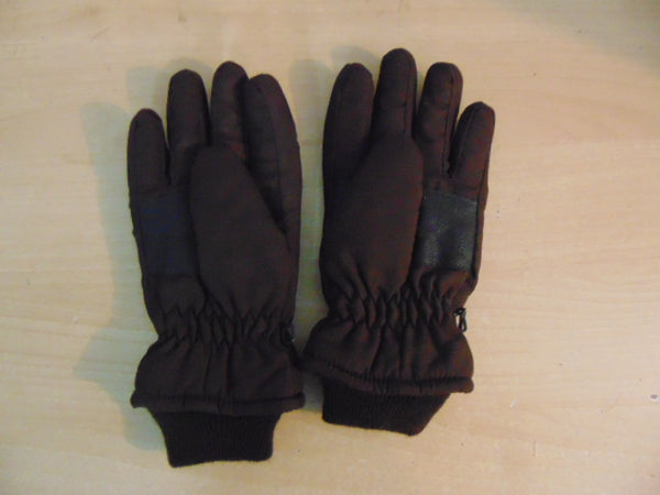 Winter Gloves and Mitts Child Size 8-10 Brown and Lime Excellent