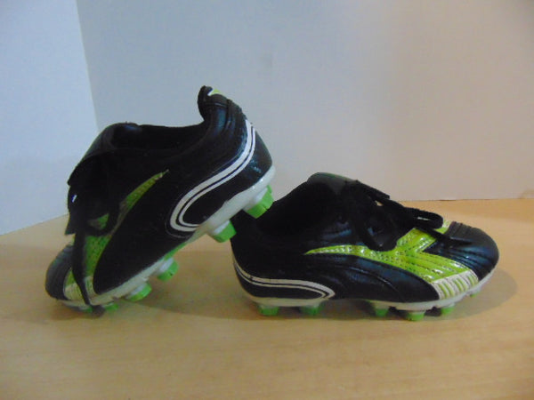 Soccer Shoes Cleats Child Size 10 Diadora Toddler Black Green