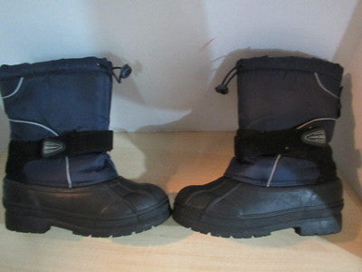 Winter Boots Child Size 6 Youth Joe Navy and Black Excellent