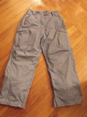 Snow Pants Child Size 8-10 Powder Room Snowboarding Light Grey