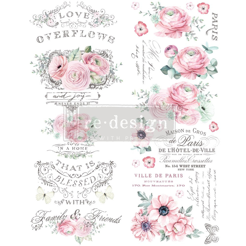 Redesign with Prima - Redesign Decor Transfer - Overflowing Love