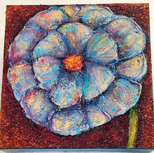 "Load image into Gallery viewer, Flower Power Textured Painting 6""x6"""