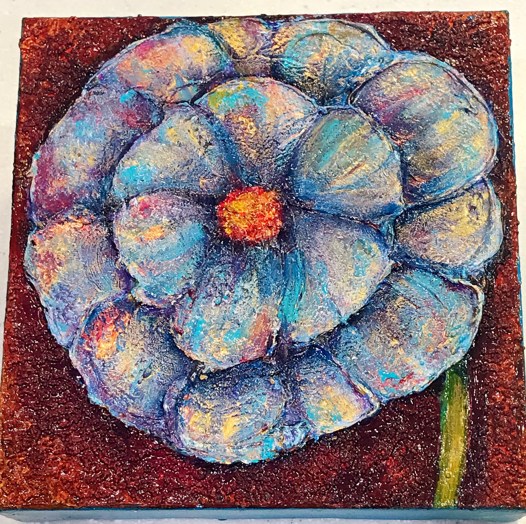 Flower Power Textured Painting 6