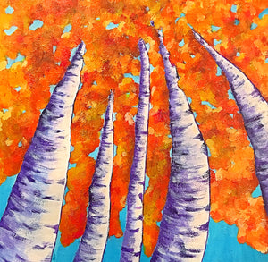 Orange Aspens - Original Art