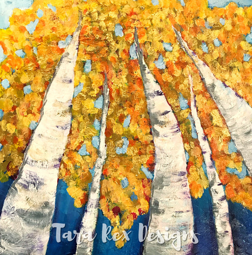 Orignal Art - Yellow Aspens 12