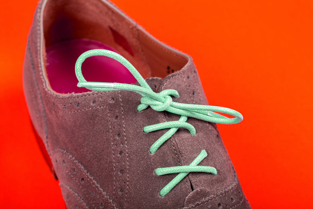 Lachie Mint Green Colour Shoelaces from Mavericks Laces