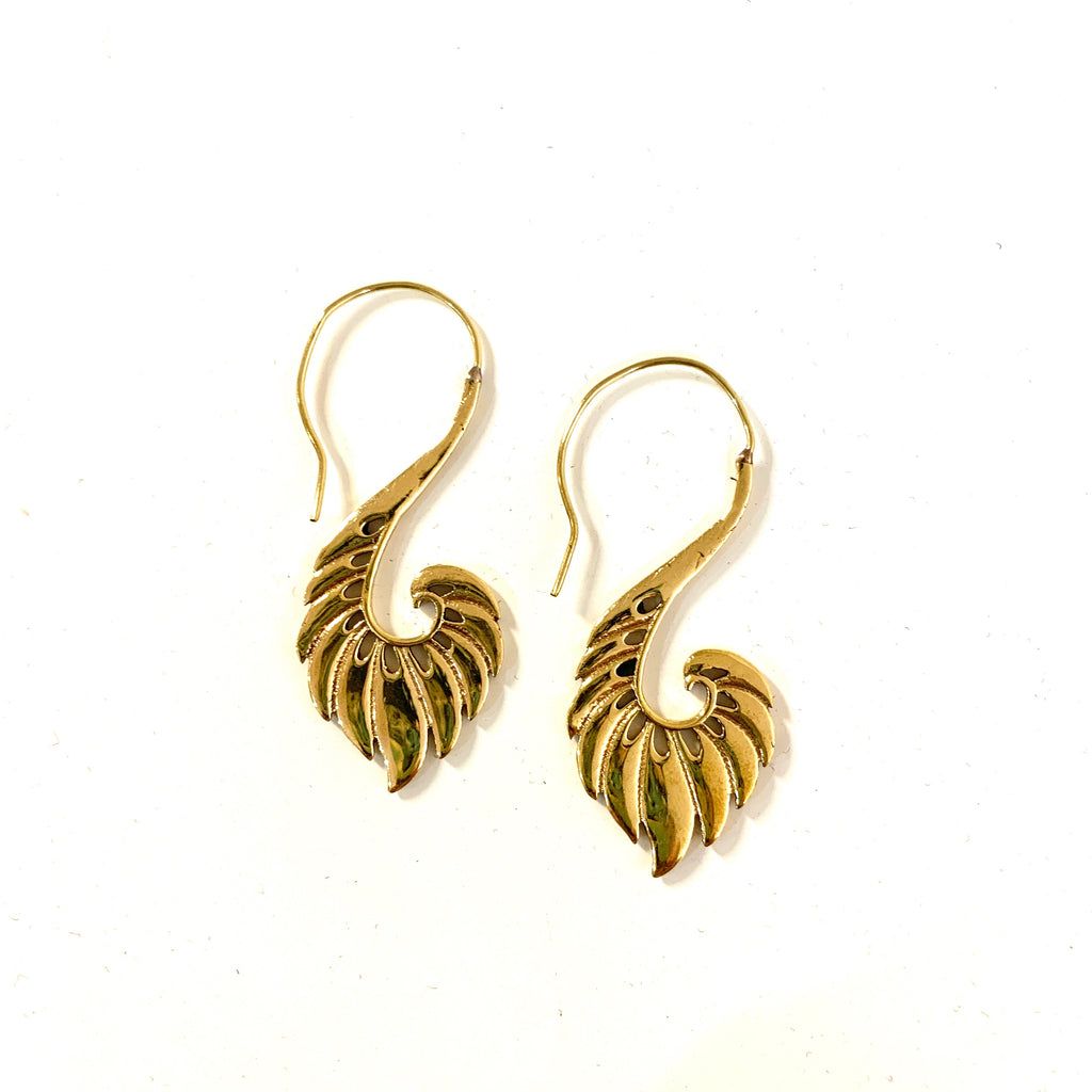 MYSTIQUE BRASS DROP EARRINGS