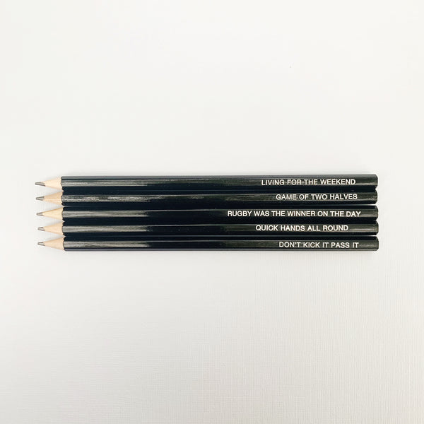 Rugby Pencil Set