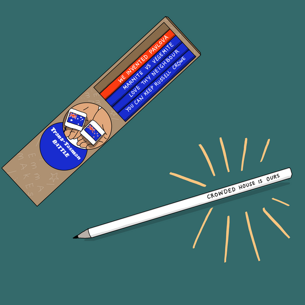 Australia vs New Zealand pencil set