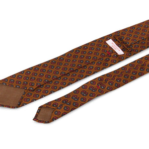 Artisan Silk Tie - Antique Bronze with Florets