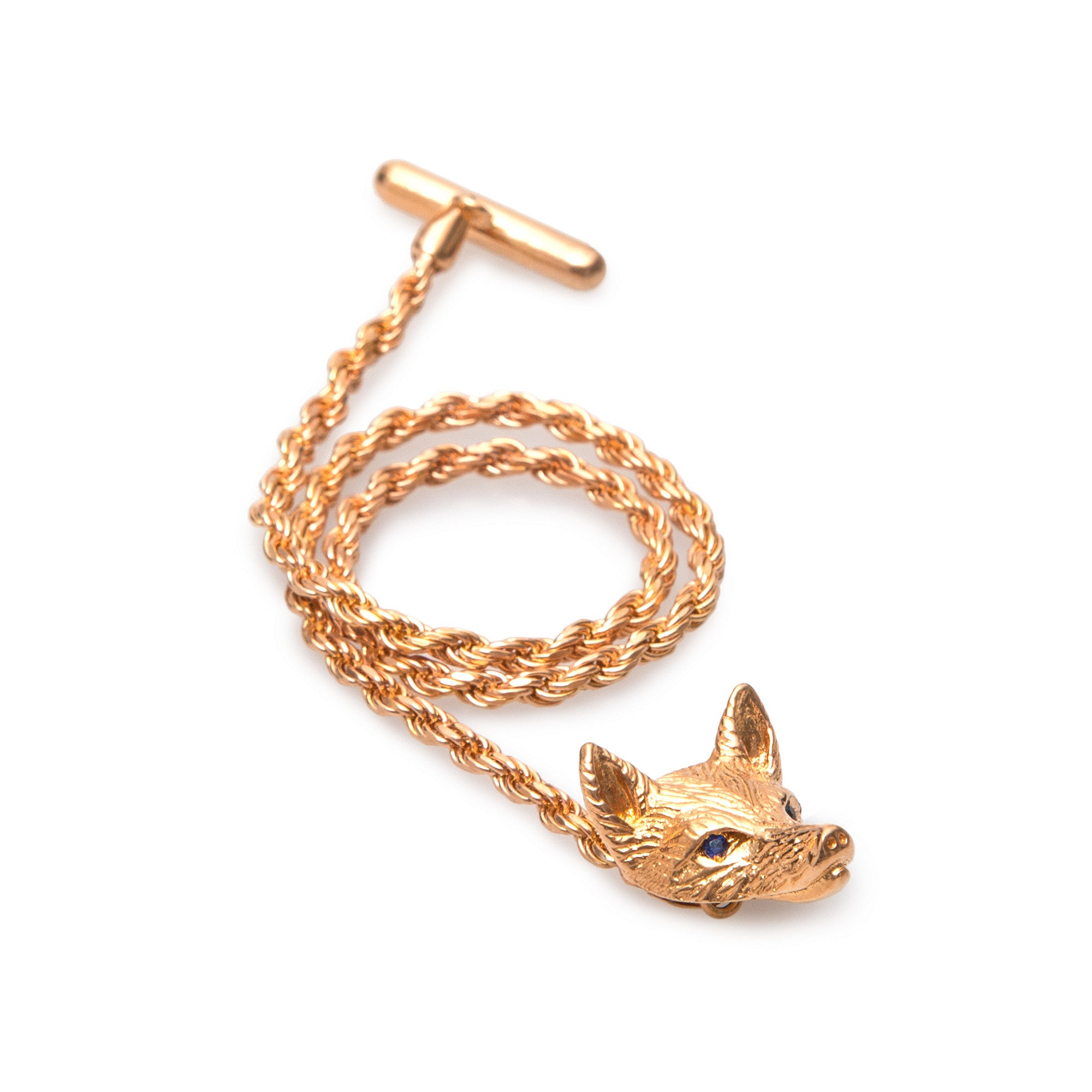 Rose Gold Fox Lapel Chain