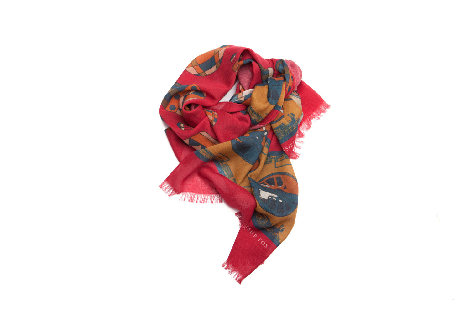 Around the World Scarf - Red