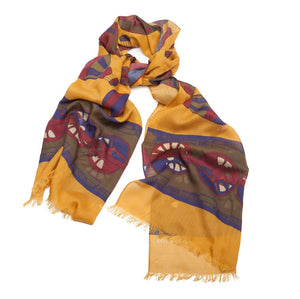 Around the World Scarf - Yellow