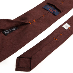 Brown Silk Shantung Tie