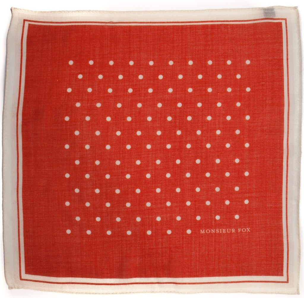 Polka Dot Square - Red
