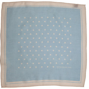 Polka Dot Square - Light Blue