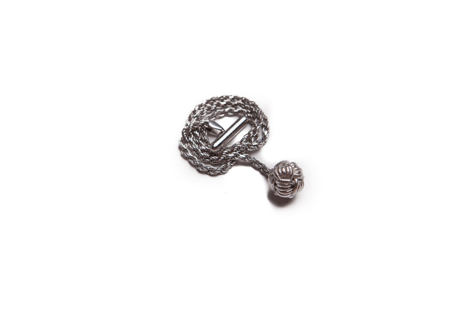 Infinity Knot Silver Lapel Chain