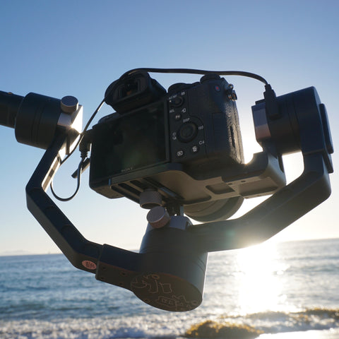 Zhiyun Crane's beach day! Free bluetooth remote with every Zhiyun purchase. Limited time offer!