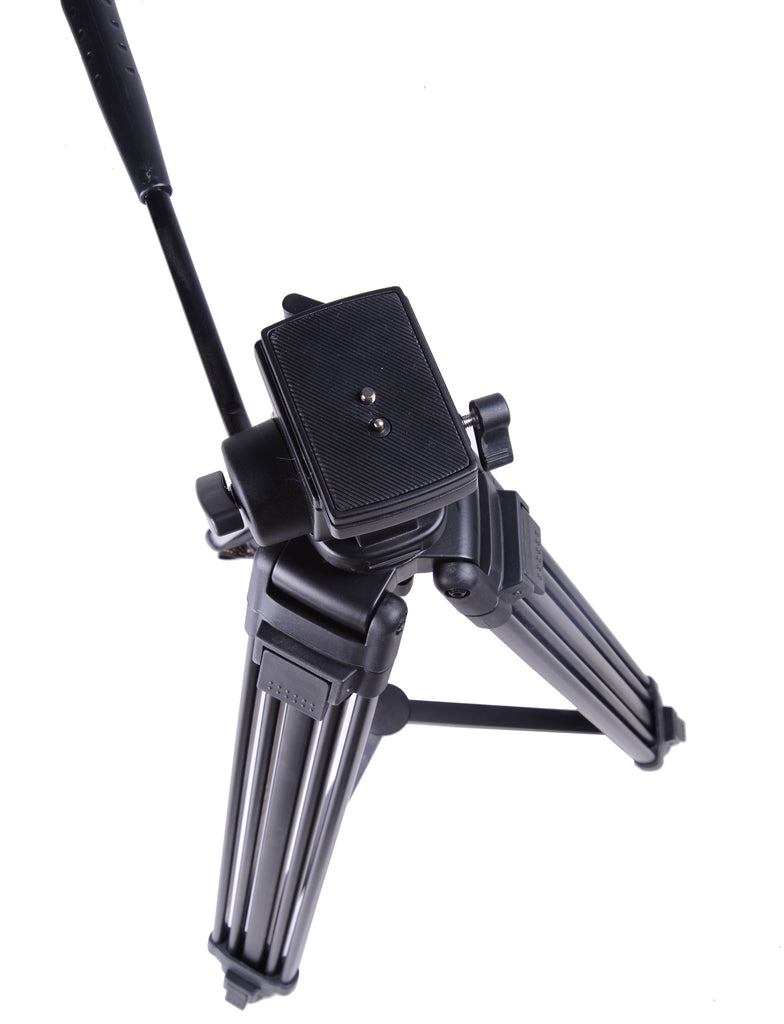 SOMITA PROFESSIONAL VIDEO TRIPOD ST-650, 65MM BOWL, 62 INCH HEIGHT, WITH 2 QUICK RELEASE PLATES, FLUID HEAD, AND TRAVEL BAG