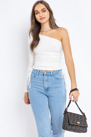 Sandy One Shoulder Top - Ivory