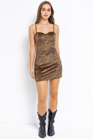 Animal Velvet Mini Dress