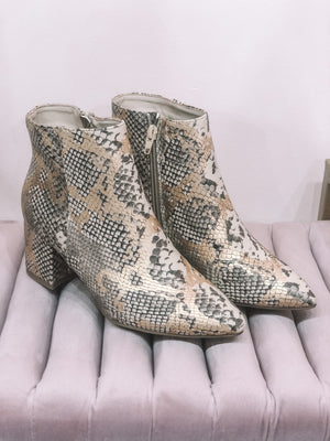 Gold Snake Booties