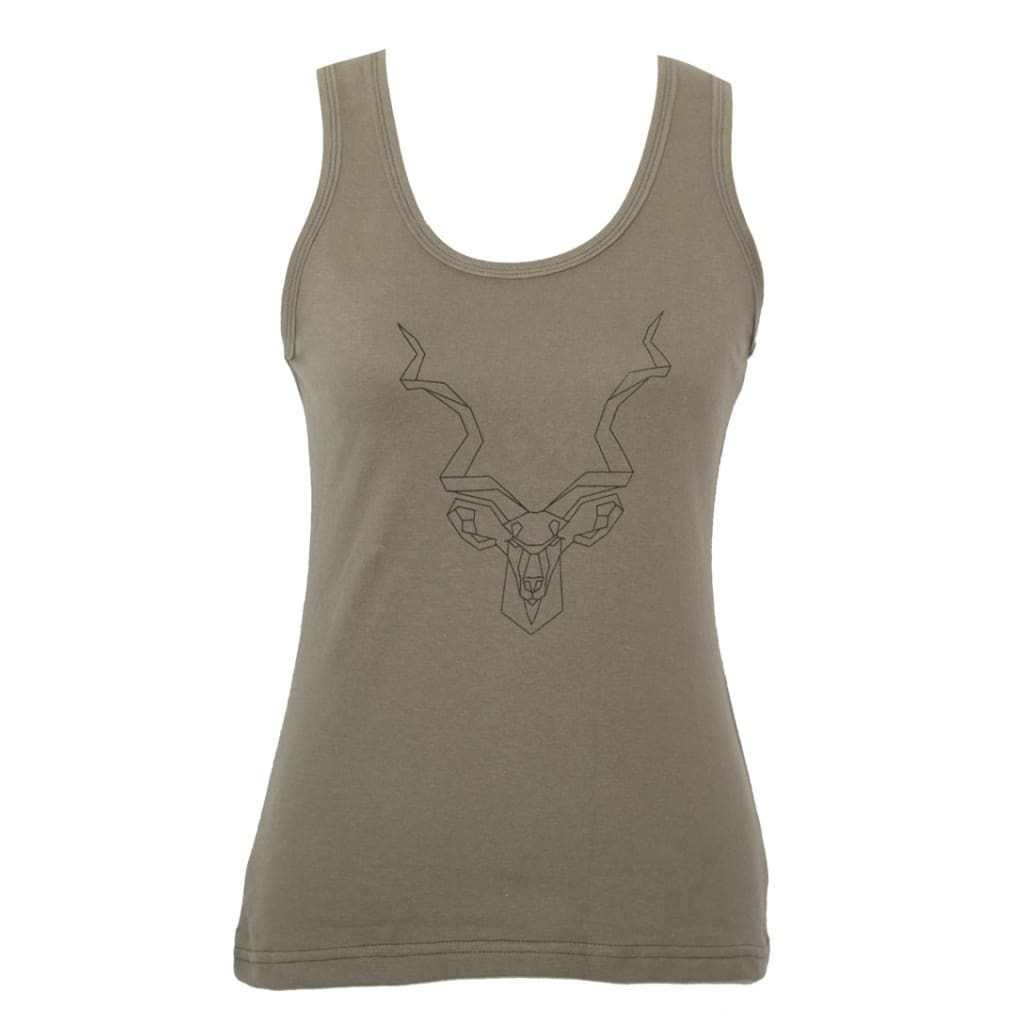 AFRICAN Apparel SA - Ladies Olive Kudu Vest - SS - Gifting Ideas