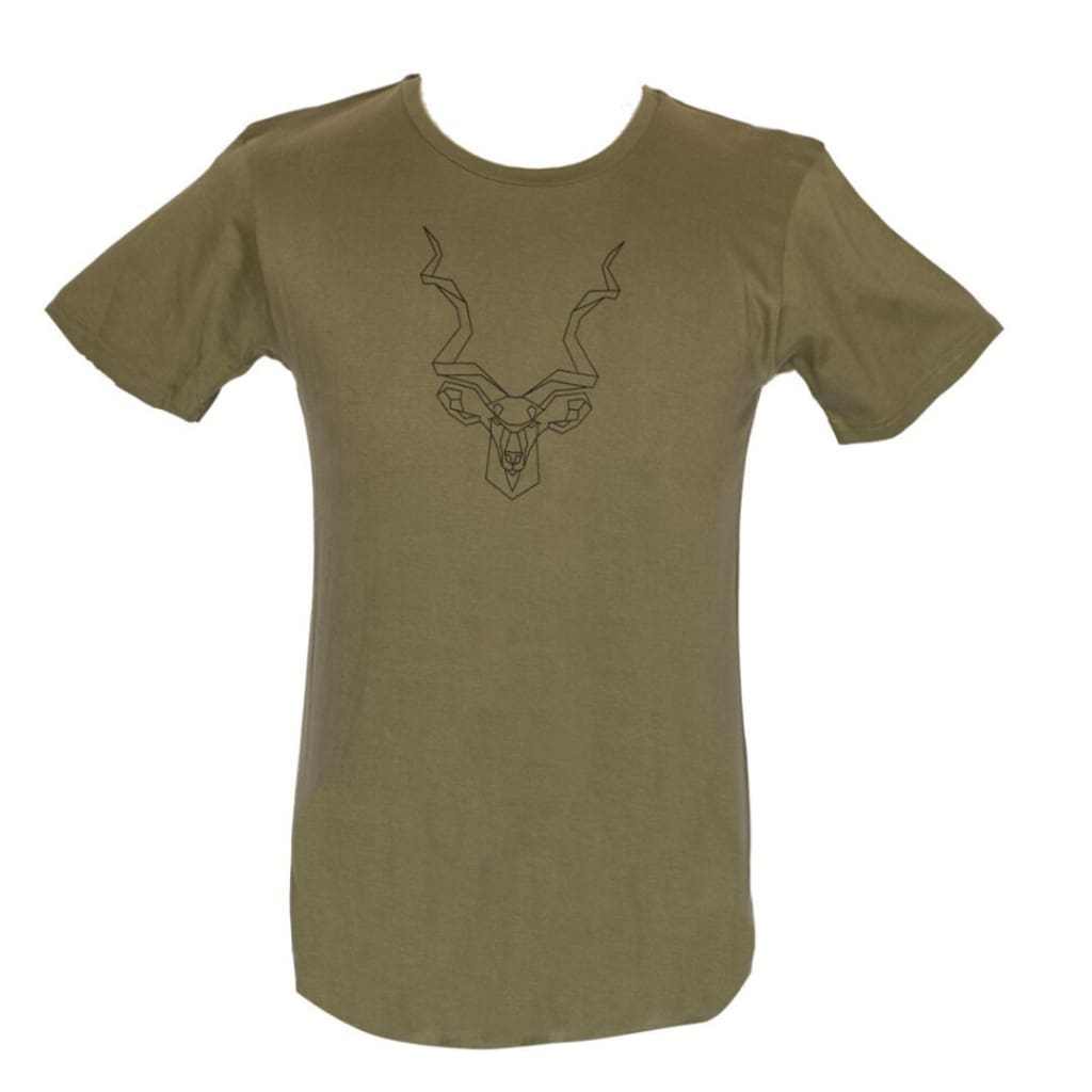 AFRICAN Apparel SA - Men's Olive Kudu T-Shirt - Gifting Ideas