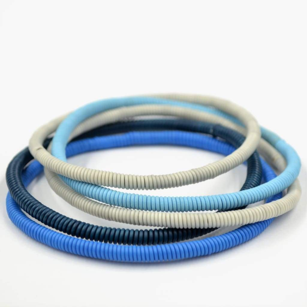 African Wire Bracelet - Blue China - Accessories