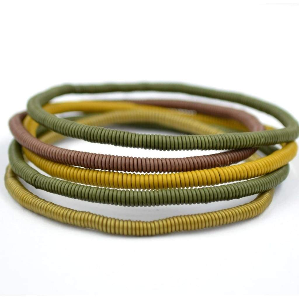 African Wire Bracelet - Khaki Bush - Accessories