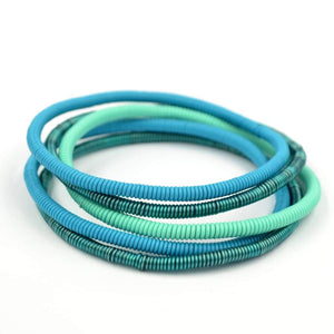 African Wire Bracelet - Turquoise Tones - Accessories