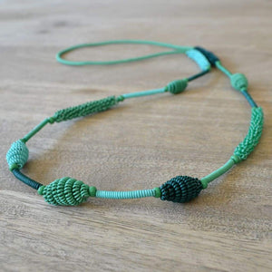African Wire Necklace - Aqua - Accessories