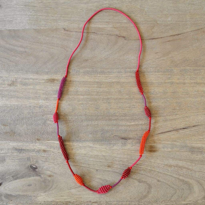 African Wire Necklace - Honey Suckle - Accessories