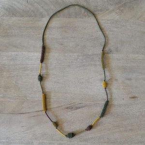 African Wire Necklace - Khaki Bush - Accessories