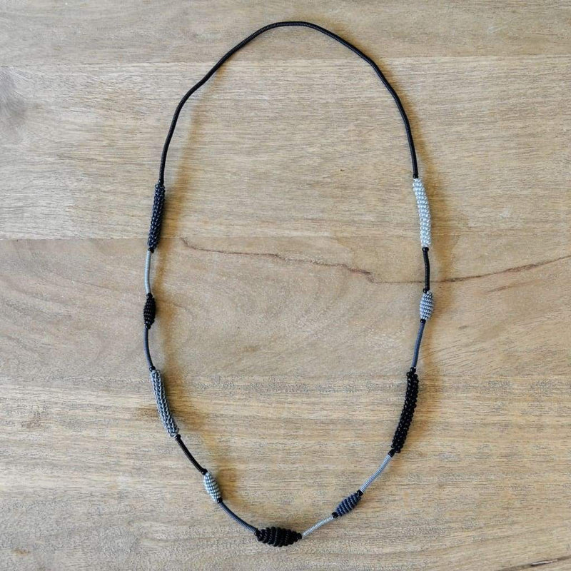 African Wire Necklace - Midnight - Accessories