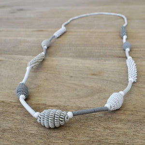 African Wire Necklace - Off White Tones - Accessories