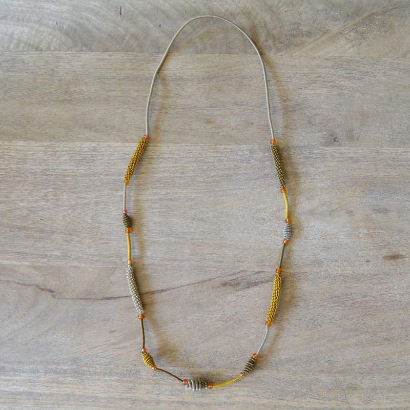 African Wire Necklace - Old Gold - Accessories