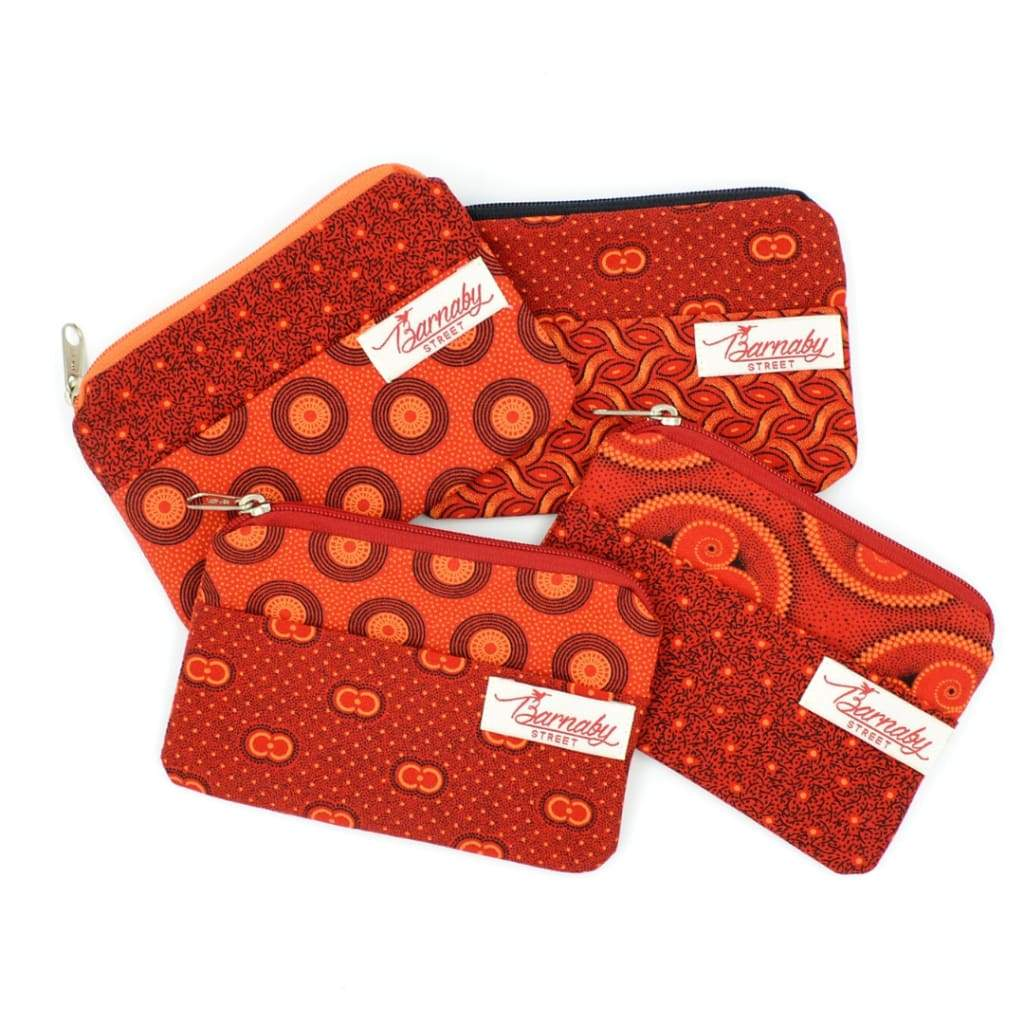 Barnaby Street Coin Purse - Red/Orange - Accessories