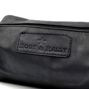 Boot & Rally Toiletry Bag Full Leather - Black - Gifting Ideas