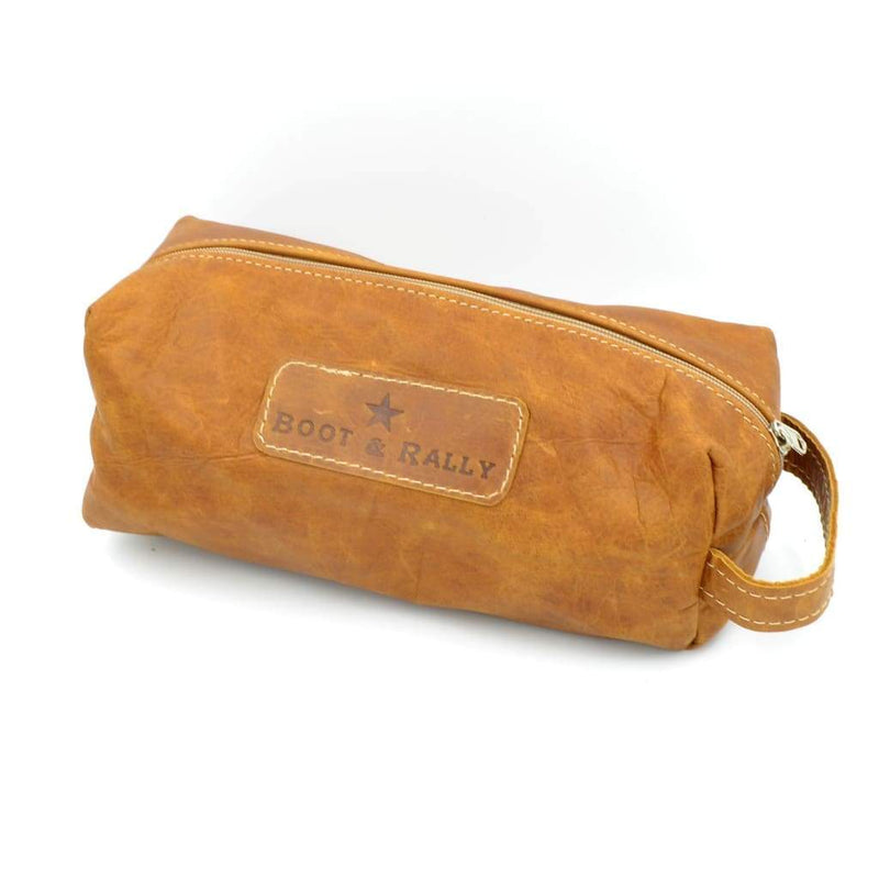 Boot & Rally Toiletry Bag Full Leather - Tan - Gifting Ideas