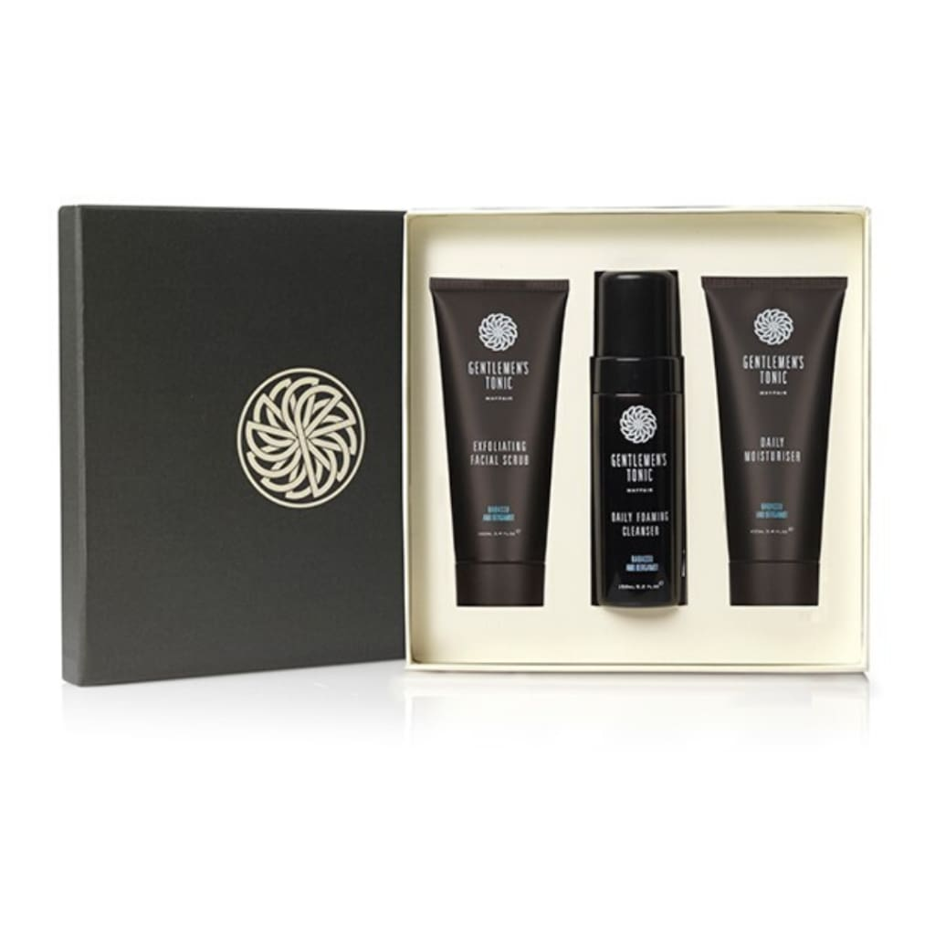 Gentlemen's Tonic Babassu & Bergamot Face Gift Set - Gifting Ideas